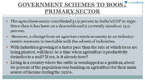 importance and composition of secondary sector